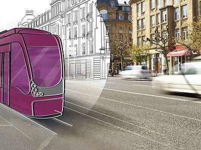 Le «smart design» des futures rames sera «adapté à la ville. La transparence des véhicules, avec des surfaces largement vitrées, permet de préserver la perméabilité visuelle au plus grand bénéfice des usagers», explique le directeur général de Luxtram.