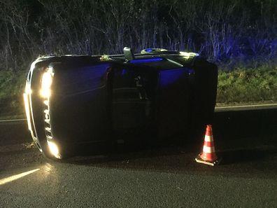 Glück im Unglück hatte die Fahrerin dieses Fahrzeugs am Donnerstagnachmittag in Echternach.