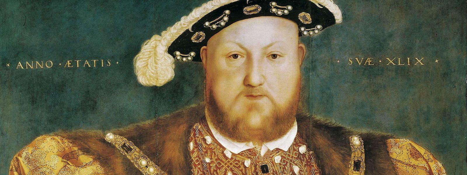 Ein Porträt von Heinrich VIII., gemalt von Hans Holbein dem Jüngeren im Jahr 1540.