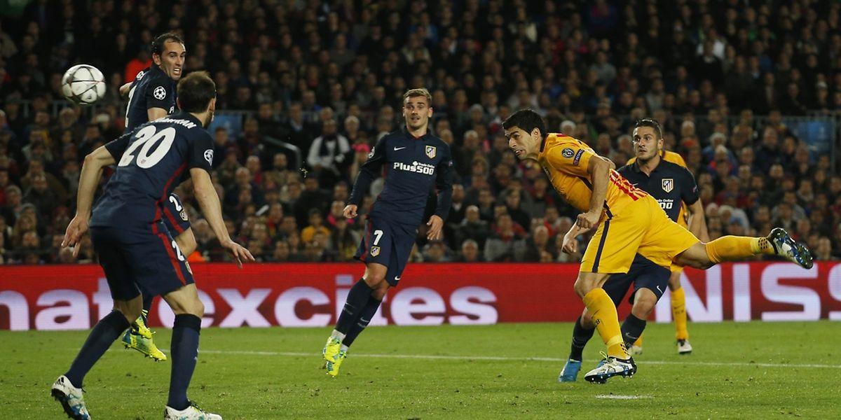 Auteur d'un doublé, Luis Suarez a offert un éger avantage au Barça avant d'aller jouer au stade Vicente Calderon au match retour contre l'Atlético.