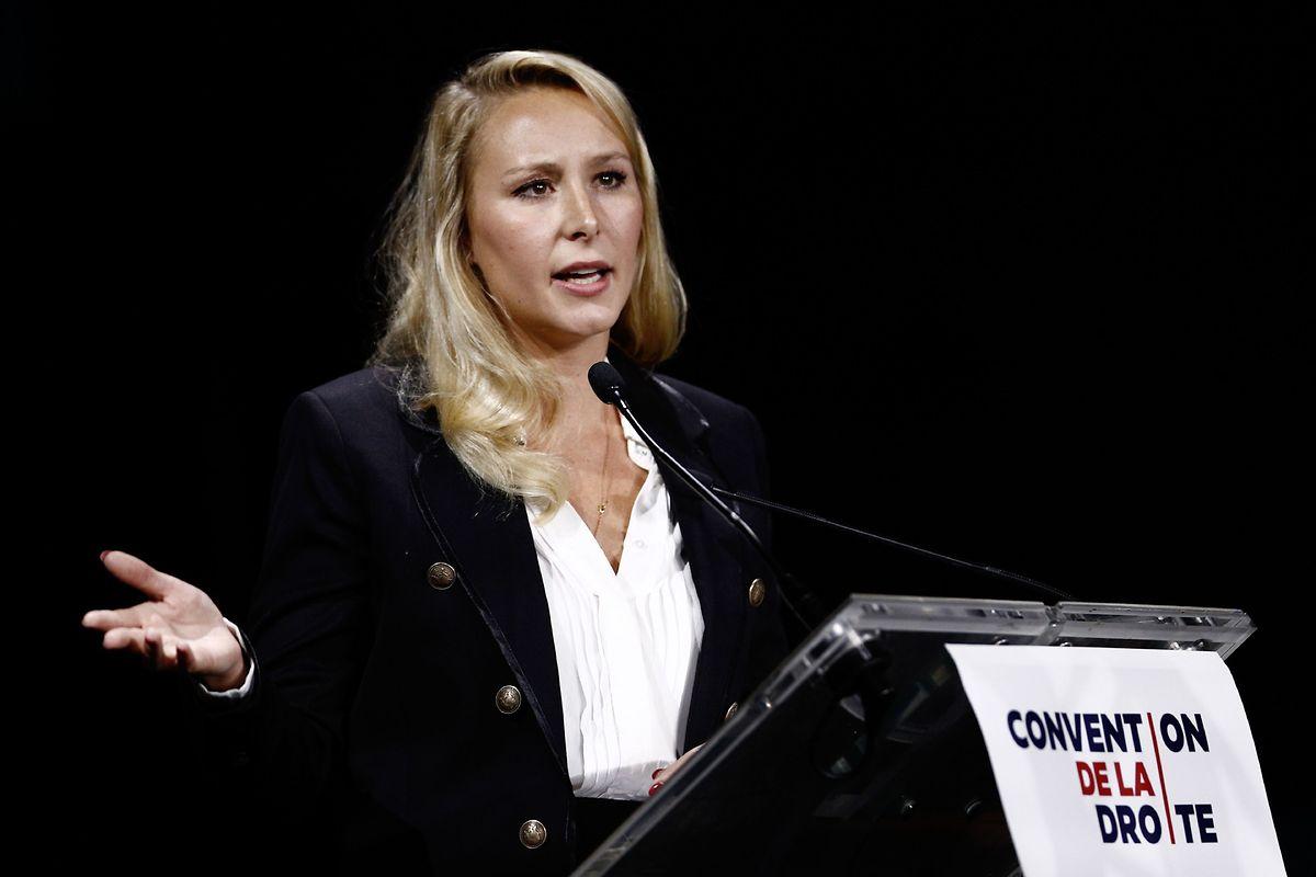Marion Maréchal lors de sa Convention à Paris. Zemmour lui permet d'exprimer à voix haute tout ce que le lepénisme «dédiabolisé» ne veut plus affirmer en son propre nom propre.