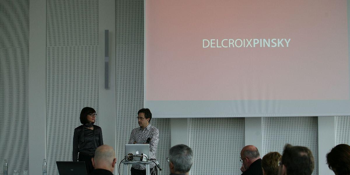 Stéphanie Delcroix et Michael Pinsky ont présenté leur projet à Esch-Belval le lundi 3 février 2014.