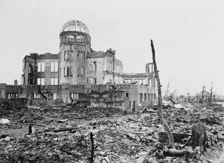 Destruição causada pela bomba nuclear em 1945