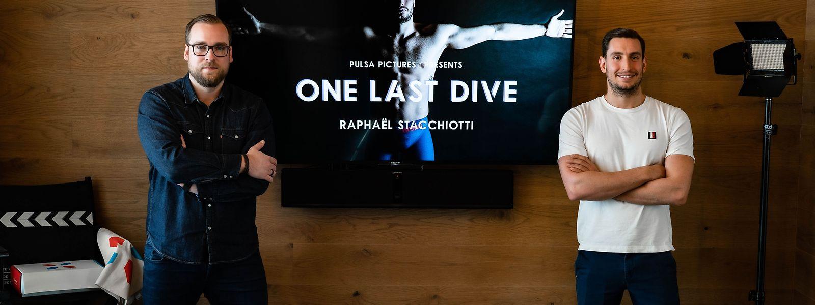 Georges Waringo und Raphaël Stacchiotti (r.) arbeiten seit Monaten an der Dokumentarserie.
