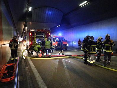 1.10.2016 Luxembourg, Mondorf, tunnel, scénario, Exercice grandeur nature, tunnel Mondorf photo Anouk Antony