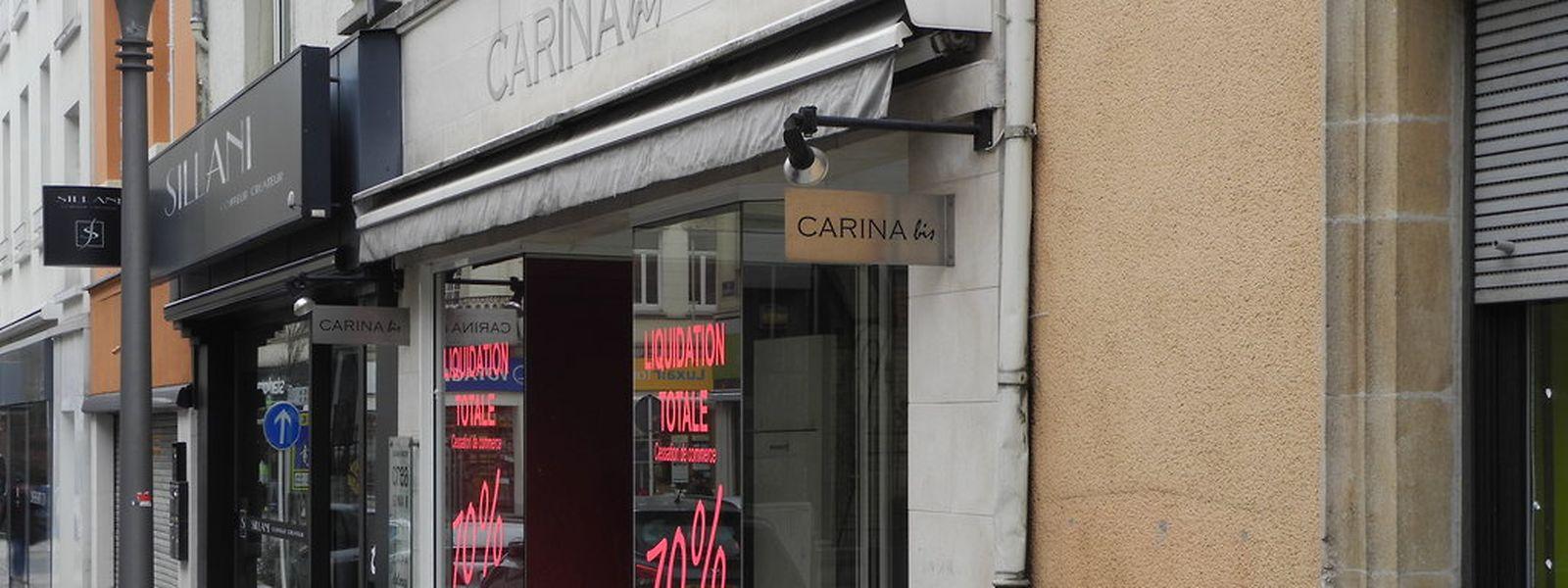 """""""Carinabis"""" hat nach rund acht Jahren geschlossen. Das Geschäft war von der Tochter des Eigentümers des Geschäftes """"Carina"""", das rund 20 Jahre in Esch/Alzette bekannt war, eröffnet worden."""