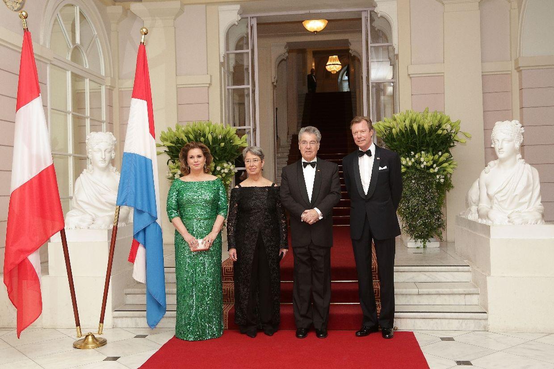 Großherzogin Maria Teresa, Margit Fischer, Staatspräsident Heinz Fischer und Großherzog Henri in der Albertina.