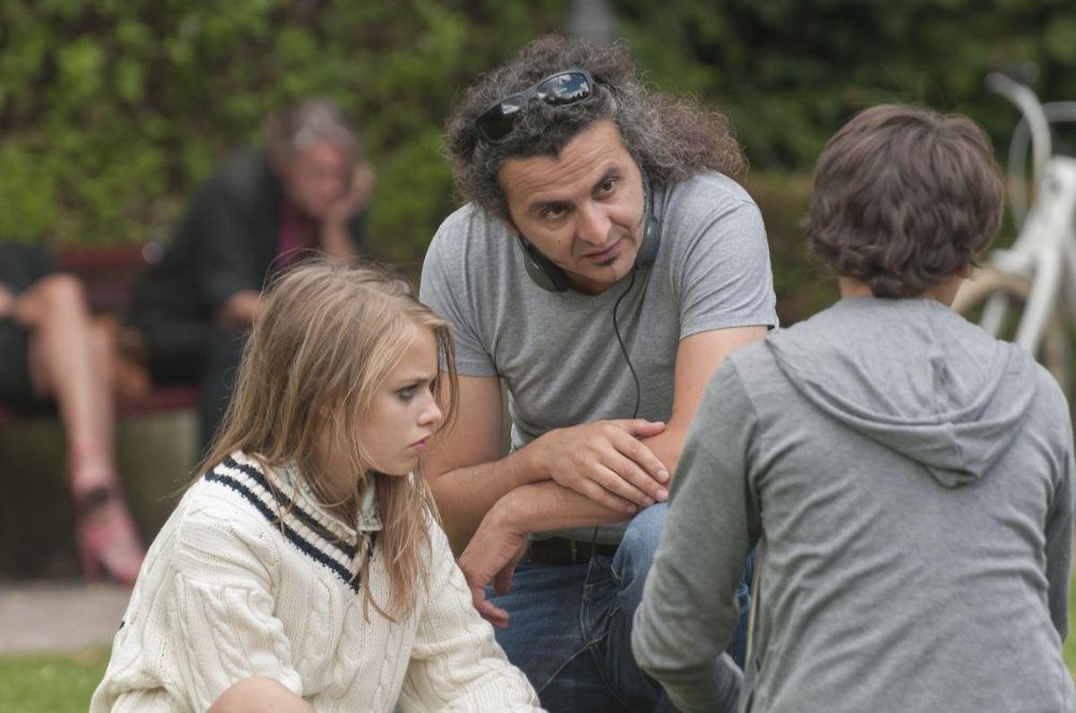Donato Rotunno im Gespräch mit den beiden Hauptdarstellerns.