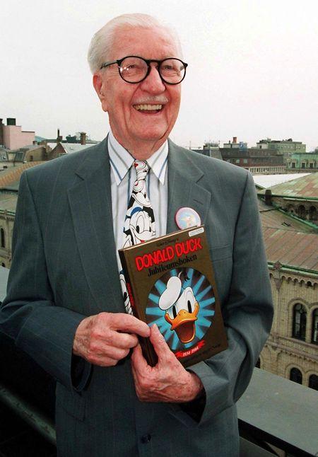 Der US-Cartoonist Carl Barks, Erfinder der Comicfigur Donald Duck. (1994)