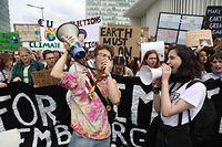 Klima Demo, Schüler demonstrieren für eine bessere Klimapolitik,  Place de l'Europe, Foto: Guy Wolff/Luxemburg