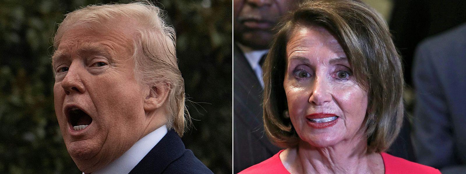 Donald Trump e Nancy Pelosi parecem antecipar a guerra entre republicanos e democratas para as eleições de 2020.