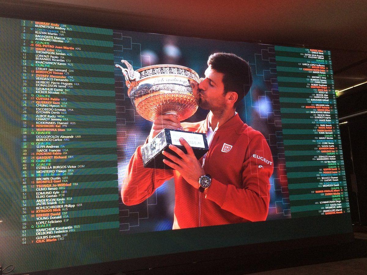 Les demi-finales du tableau masculin pourraient oppooser, d'une part Novak Djokovicà Rafael Nadal, et d'autre part, Andy Murray à Stan Wawrinka.