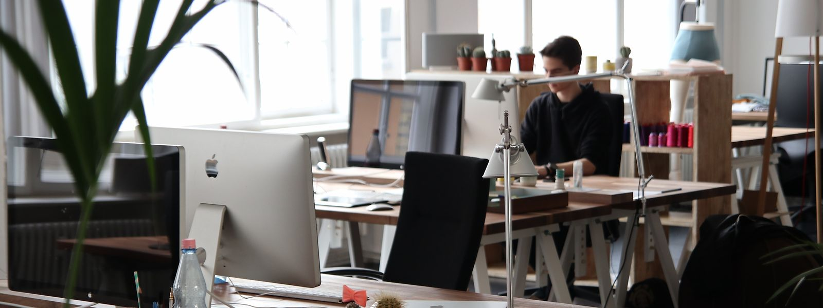 """Leben im Büro: Platz für Zwischenmenschliches am Arbeitsplatz soll in Zukunft eine noch wichtigere Rolle spielen – das spiegelt sich in einem Projekt von """"M3 Architectes"""" wider."""