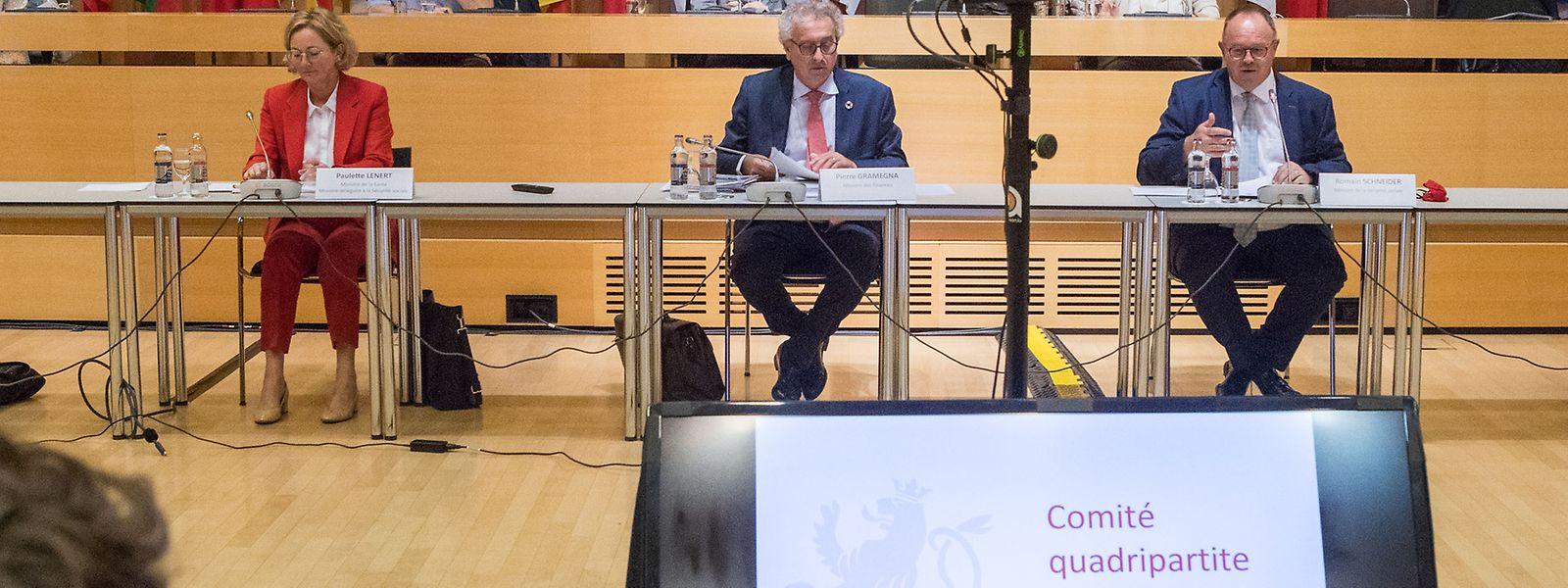 Die Frühjahrs-Quadripartite fand noch physisch statt, diesmal ging es per Video-Konferenz: Die Finanzen der CNS in Zeiten der Covid-Krise stehen im Mittelpunkt.