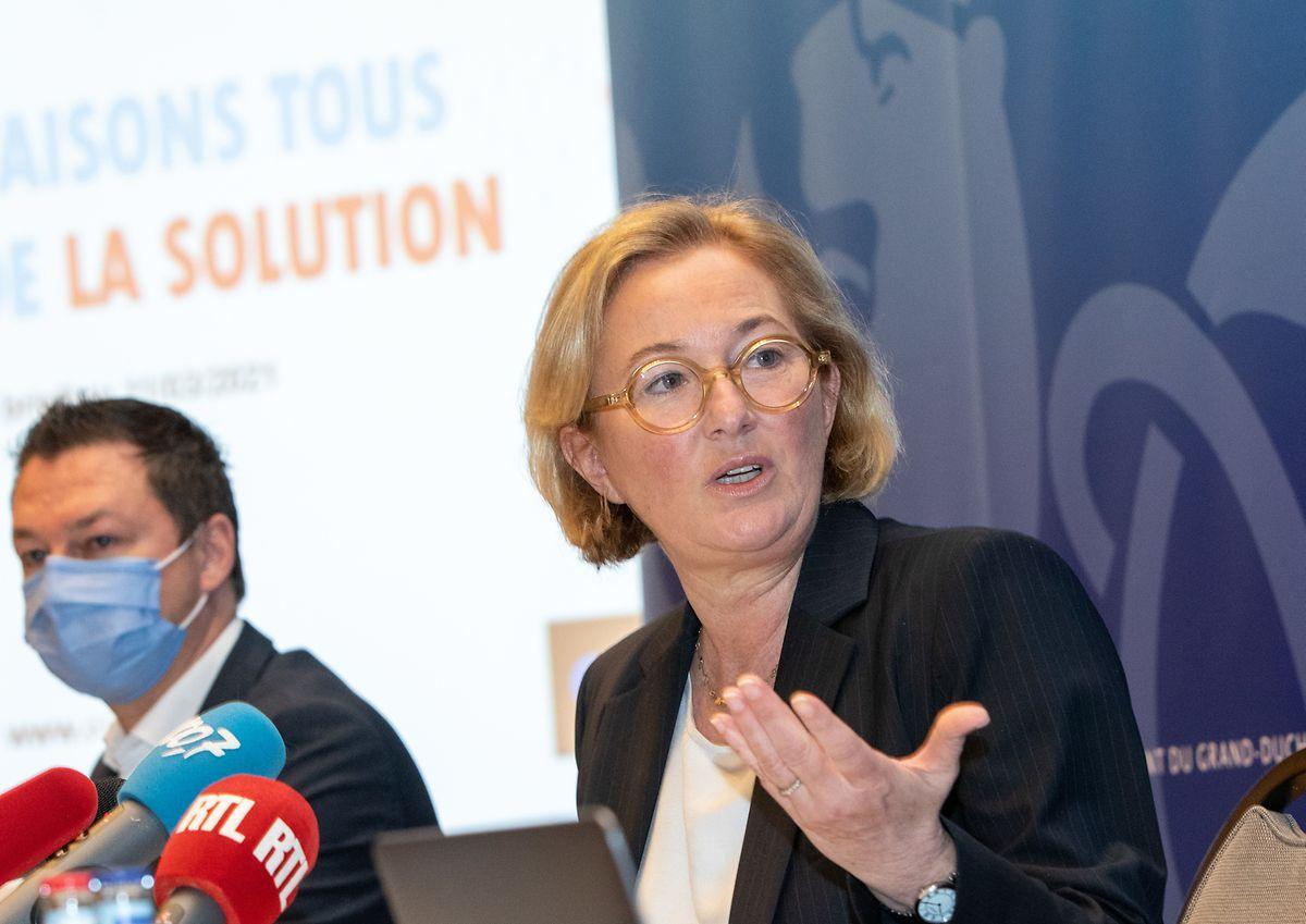 Gesundheitsministerin Paulette Lenert zog eine Zwischenbilanz bei der zweiten Phase des LST.