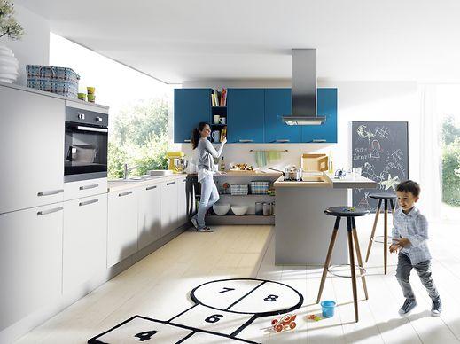 Luxemburger wort die k che braucht nur drei farben - Arbeitsplatte blau ...