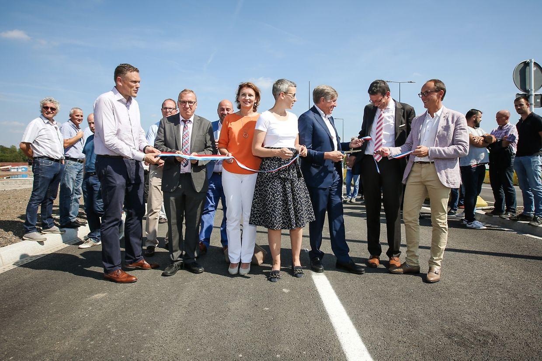 Am Montagnachmittag wurde der 41 Meter breite Boulevard Kockelscheuer offiziell eröffnet.