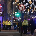 """Police set up a cordon outside Oxford Circus underground station as they respond to an incident in central London on November 24, 2017. British police said they were responding to an """"incident"""" at Oxford Circus in central London on Friday and have evacuated the Underground station, in an area thronged with people on a busy shopping day. / AFP PHOTO / Daniel LEAL-OLIVAS"""
