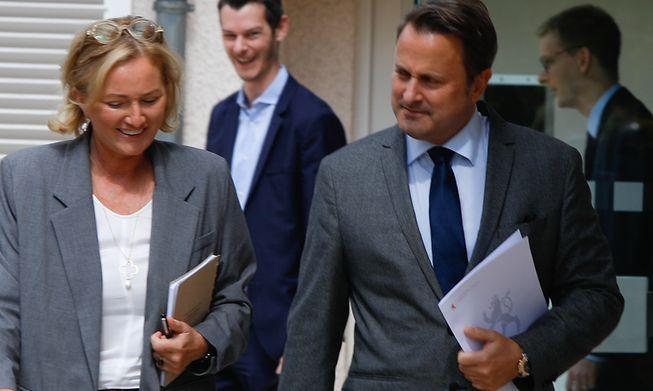 Health Minister Paulette Lenert and Prime Minister Xavier Bettel