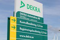 Die deutsche Prüfgesellschaft Dekra kündigt sich in Luxemburg an.