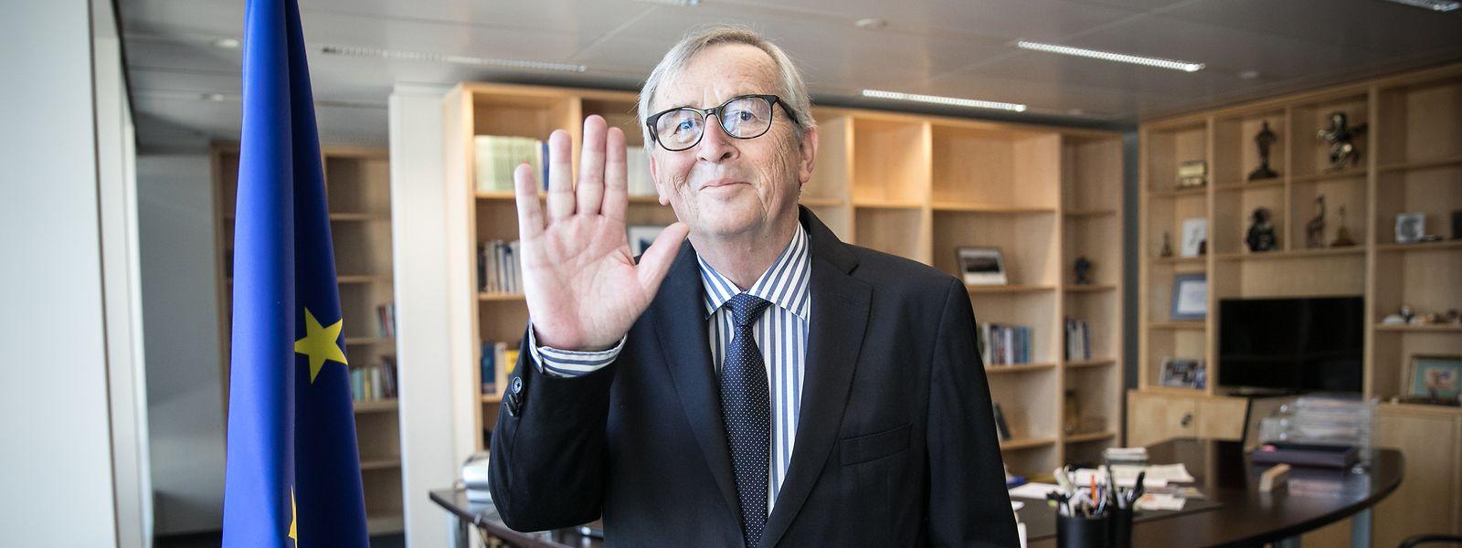 Jean-Claude Junckers letzte Stunden als Präsident der Europäischen Kommission in Brüssel.