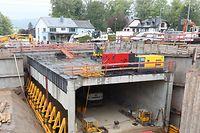 Le tunnel de 25 mètres de long sera poussé sous les voies du chemin de fer ce samedi 11 mai à partir de 14 heures.