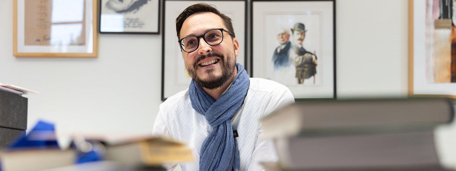 Claude Conter ist seit Mai 2012 Direktor des nationalen Literaturzentrums in Mersch.