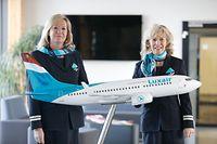 Wirtschaft, Luxair, Abschied Flugbegleiterinnen, Harpes-Schram Josée, Danielle Frauenberg Foto: Luxemburger Wort/Anouk Antony