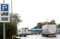 Lokales, Aire de Berchem, parking intelligent, Lkw. Foto: Chris Karaba/Luxemburger Wort