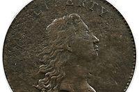"""HANDOUT - 19.04.2018, USA, Dallas: Eine der ersten US-Dollarmünzen aus dem Jahr 1794. Die Dollarmünze ist bei einer Auktion für 840.000 Dollar (knapp 700.000 Euro) versteigert worden. Die seltene Kupfermünze, ein Prototyp des späteren Silberdollars, sei eine der erste Herstellungen in der damals neuen Prägestätte in Philadelphia gewesen, teilte das Auktionshaus Heritage Auctions am 24.01.2021 (Ortszeit) im texanischen Dallas mit. (zu dpa """"Seltene US-Dollarmünze von 1794 für 840 000 Dollar versteigert"""") Foto: -/Heritage Auctions/dpa - ACHTUNG: Nur zur redaktionellen Verwendung im Zusammenhang mit einer Berichterstattung über die Auktion und nur mit vollständiger Nennung des vorstehenden Credits +++ dpa-Bildfunk +++"""
