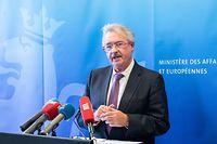 IPO , PK Jean Asselborn , Aussenminister , über Immigration und Flüchtlinge , Foto:Guy Jallay/Luxemburger Wort