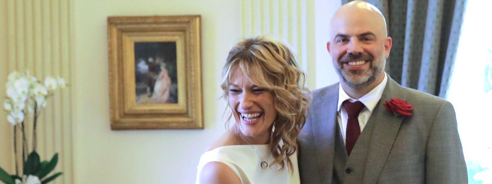 Das Paar bei seiner Hochzeit im Jahr 2019.