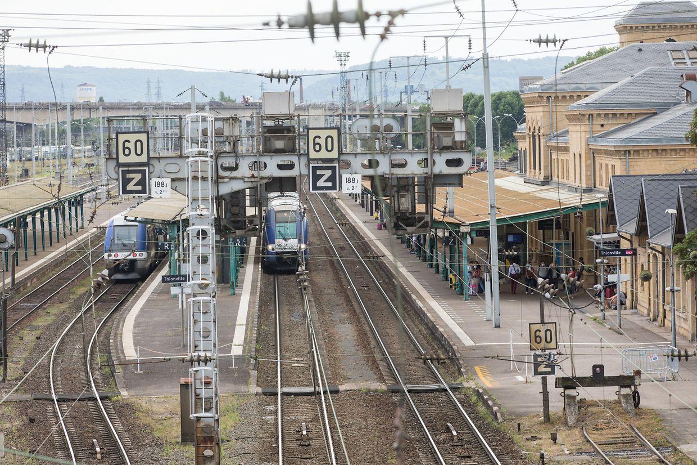 135 trains traversent actuellement la gare de Thionville, selon les données de la SNCF...