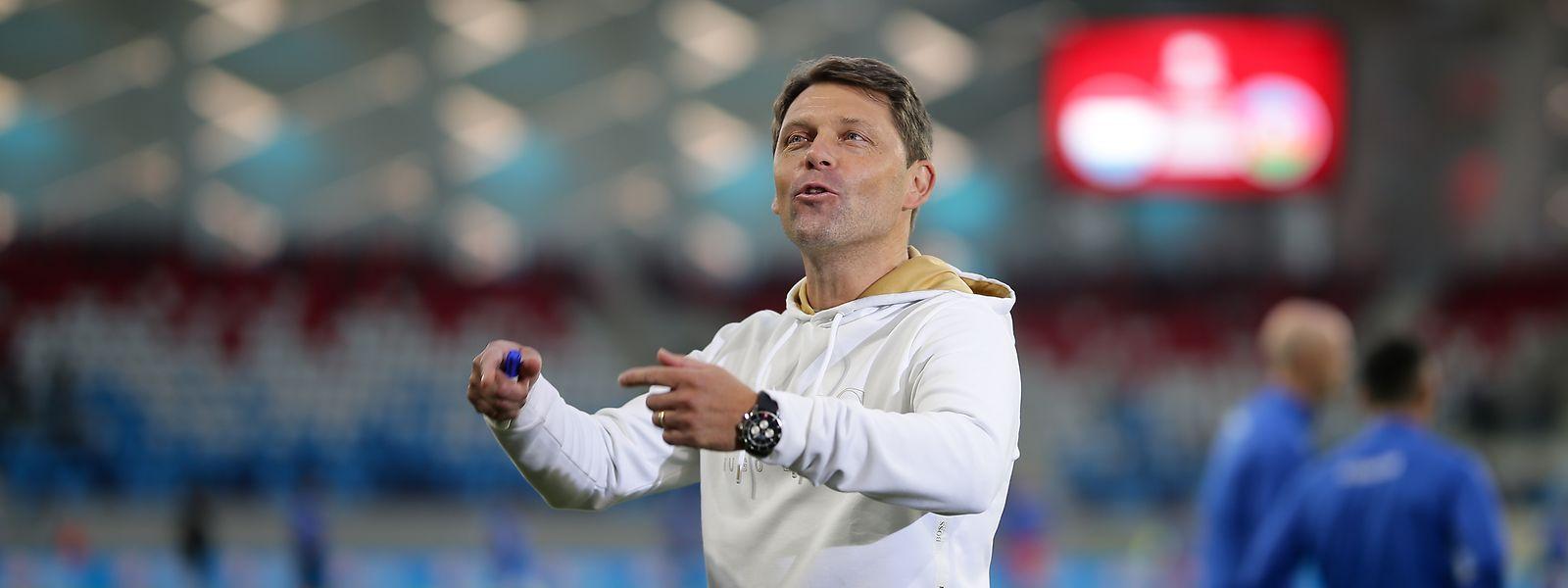 Luc Holtz et ses joueurs retrouveront la pelouse du nouveau Stade de Luxembourg le 9 octobre.