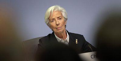 European Central Bank President Christine Lagarde shown in January 2020
