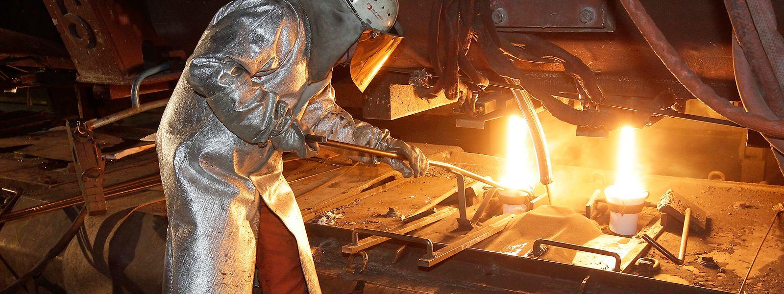 Das Stahlwerk von Arcelor-Mittal in Differdingen