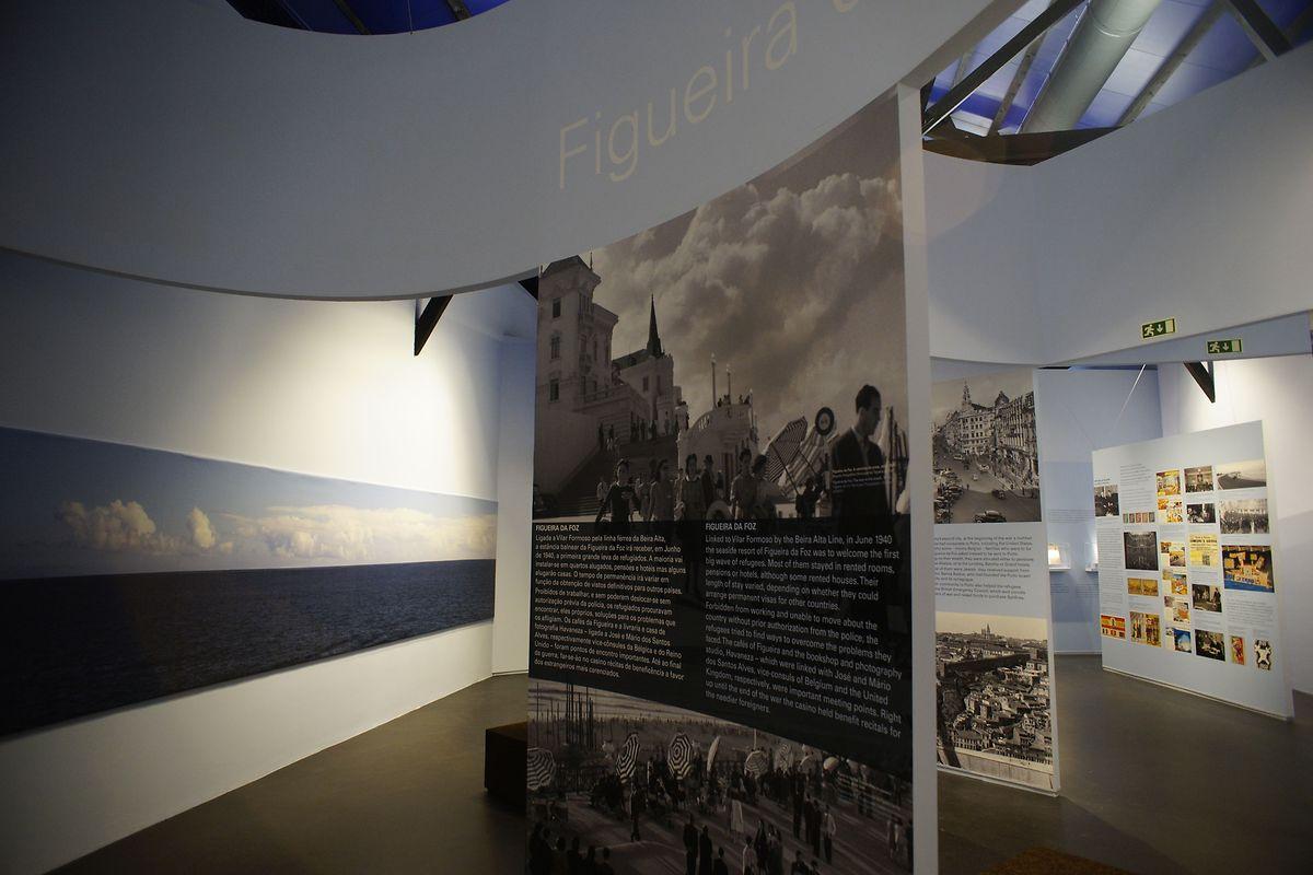 Vista de parte da exposição patente no museu de Vilar Formoso.