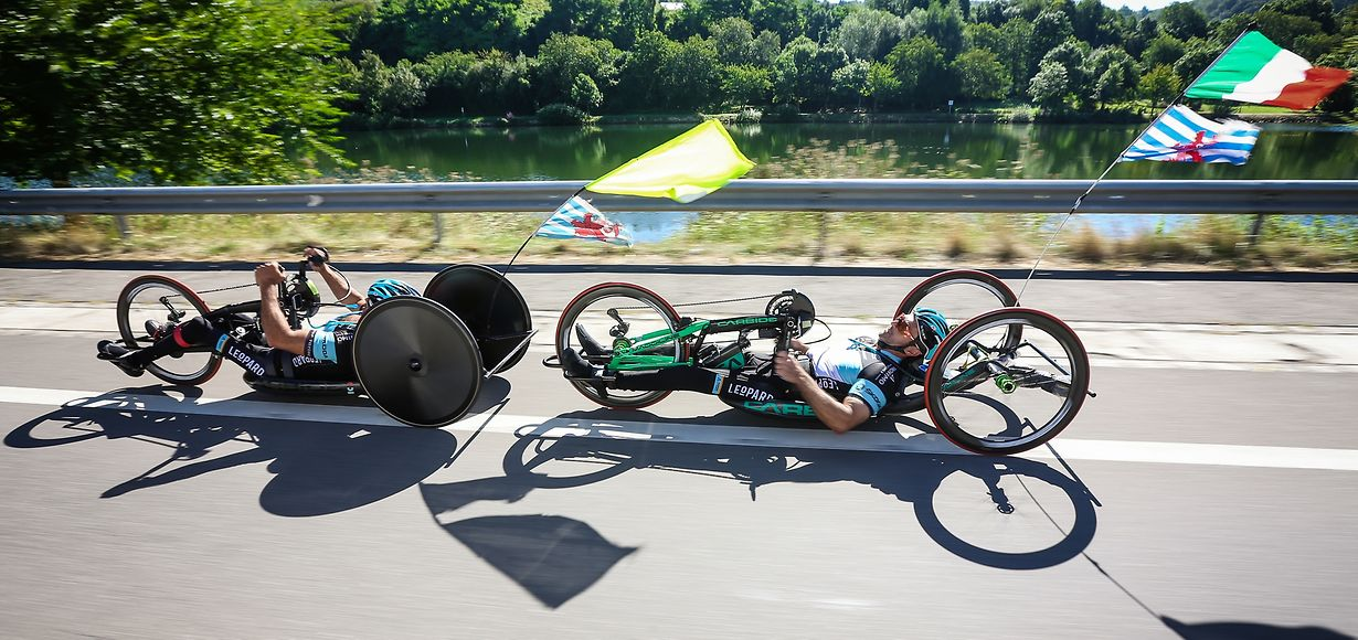 Joël Wagener et Luciano Fratini - Handbike - (Paralympics) - Photo : Pierre Matgé