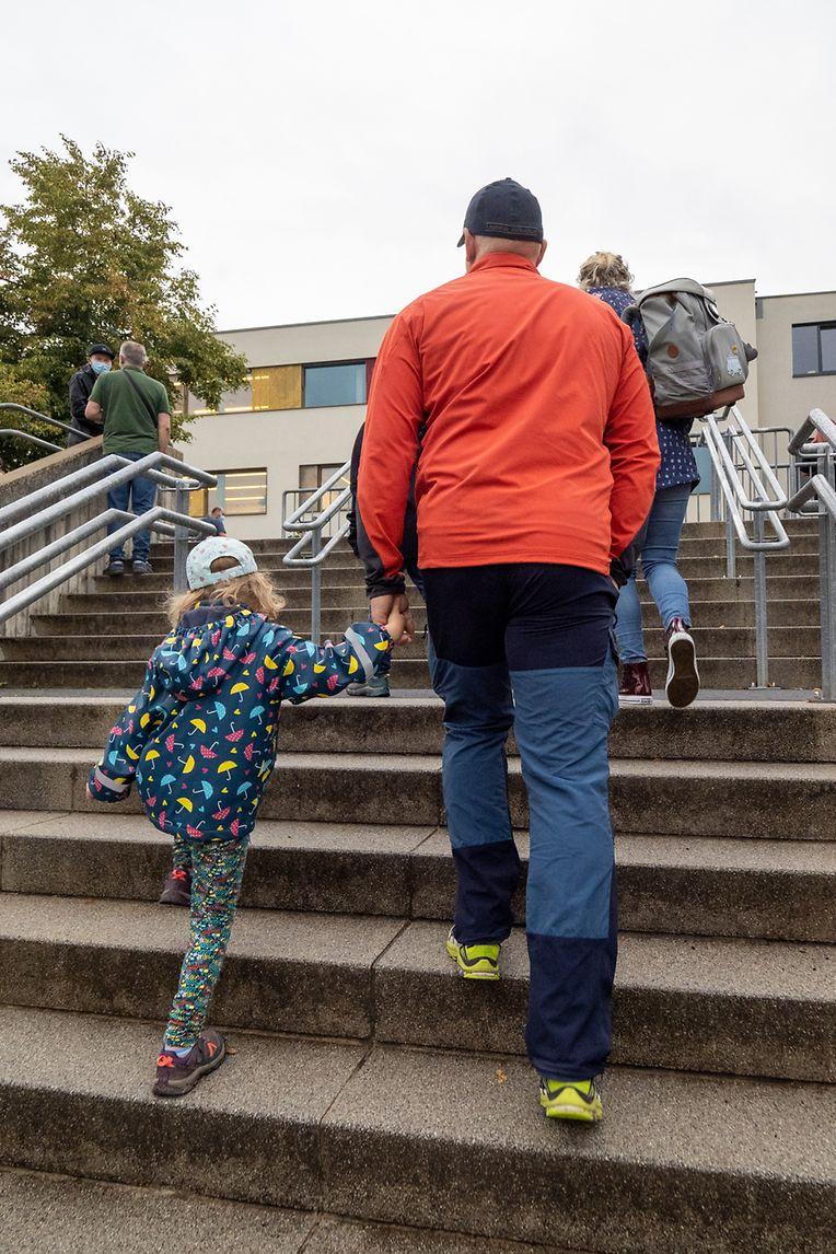 Der erste Schultag nach den Sommerferien in Dreiborn.