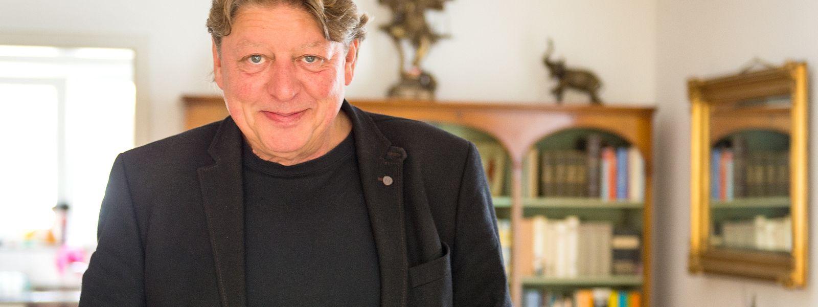 Walter Freiwald im Jahr 2015 bei einem Interview in seinem Haus in Nordrhein-Westfalen.