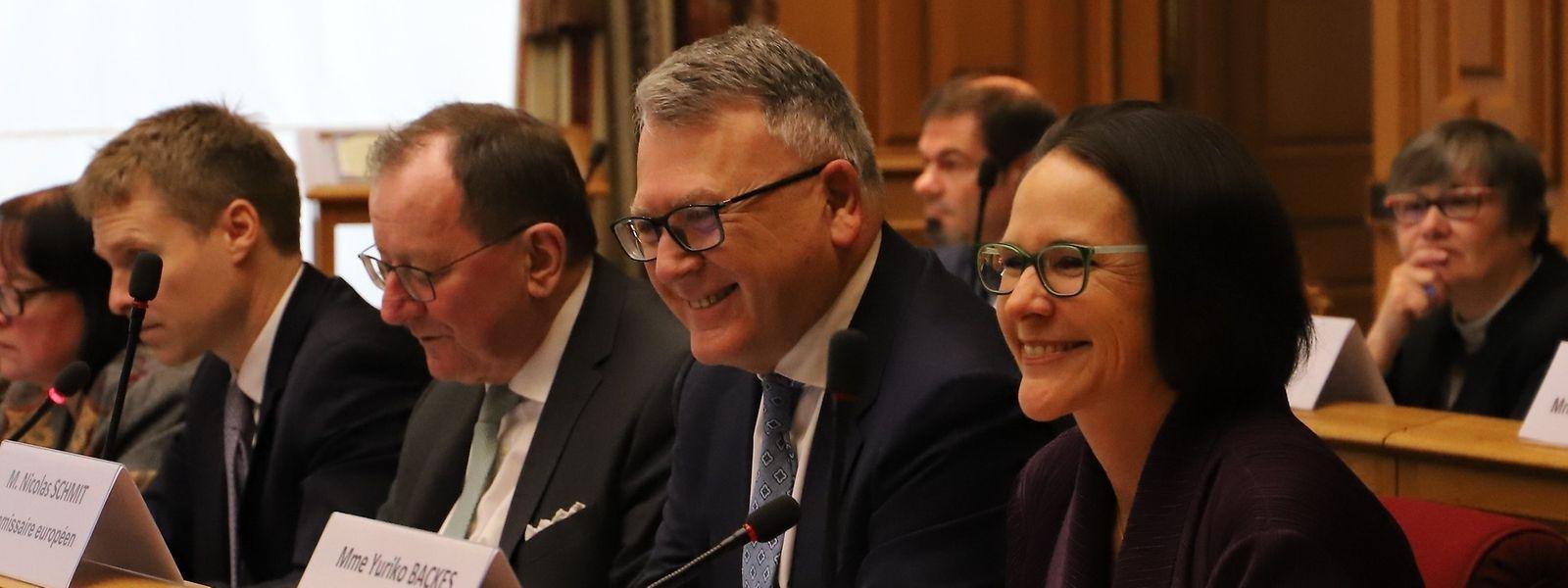 Nicolas Schmit, le commissaire européen à l'Emploi et aux Droits sociaux, a partagé le souhait de Fernand Etgen, le président de la Chambre de «rapprocher la politique européenne des citoyens».