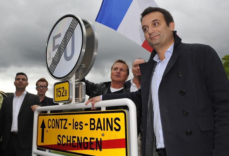 Florian Philippot mit Fabien Engelmann, Bürgermeister von Hayange.