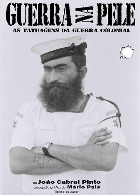 """Capa do livro """"Guerra na pele - As tatuagens na guerra colonial"""""""