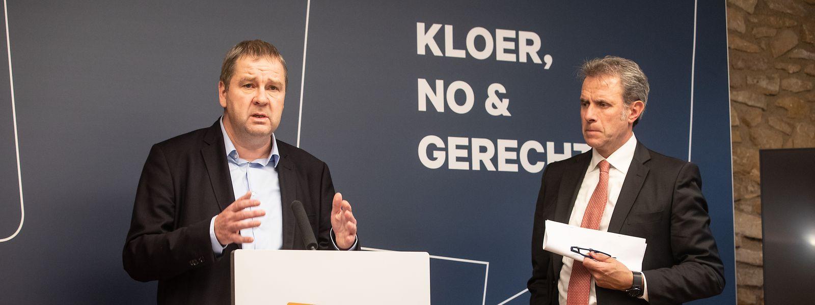 Der CSV-Abgeordete Michel Wolter sprach am Dienstagnachmittag über Ungereimtheiten im Dosssier Gartenhausaffäre. (rechts im Bild: CSV-Generalsekretär Félix Eischen).