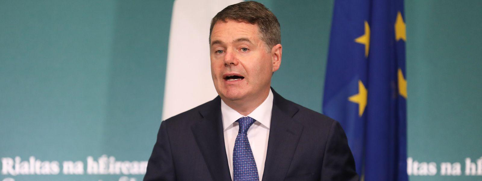 Paschal Donohoe, Finanzminister von Irland. Das irische Kabinett beschloss, den Steuersatz für Unternehmen mit einem Umsatz von mehr als 750 Millionen Euro von 12,5 auf 15 Prozent zu erhöhen.