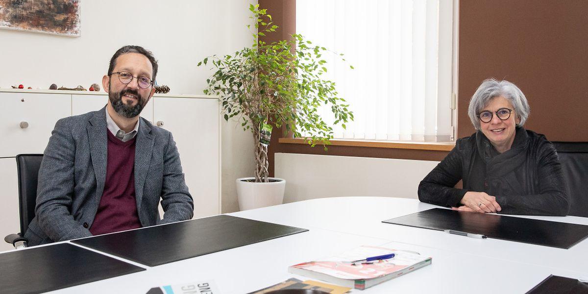 Die Bürgermeister Paul Engel (Grosbous) und Christiane Thommes-Bach (Wahl) hoffen, dass man trotz Corona-Beschränkungen in den kommenden Monaten regen Austausch mit den Bürgern findet.