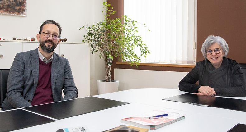 Lok , Norden , ITV geplante Fusion Gemeinden Wahl und Grosbous , Christiane Bach ( Wahl ) und Paul Engel ( Grosbous ) Foto:Guy Jallay/Luxemburger Wort