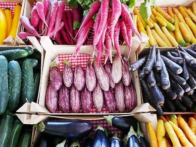 Organic produce from Les Paniers de Sandrine