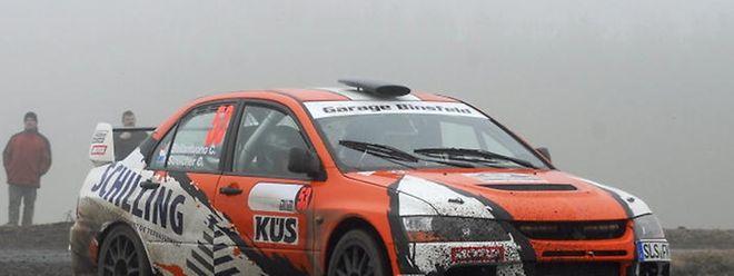Claude Streicher et Christine Bellantuono dans leur Mitsubishi Evo 9 (Photo: Fons Schneider)