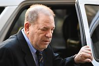 "(FILES) In this file photo taken on January 24, 2020 Harvey Weinstein arrives at the Manhattan Criminal Court, for his rape and sexual assault trial in New York City. - One of Harvey Weinstein's main accusers told his rape trial on January 27,2020 that the ex-Hollywood producer forcibly performed oral sex on her in a children's bedroom in his New York home.  Mimi Haleyi -- a former production assistant -- cried as she told the Manhattan court that Weinstein, 67, sexually assaulted her in July 2006 while she was on her period.She described how Weinstein, who was then three times her weight, initially appeared ""friendly"" before he backed her into a bedroom with children's drawings on the wall. (Photo by Johannes EISELE / AFP)"
